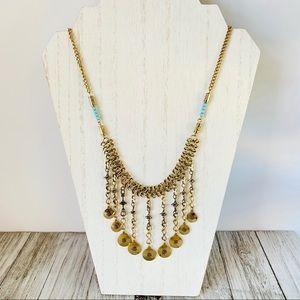 Jewelry - Boho Festival Dangle Coin Necklace Fringe